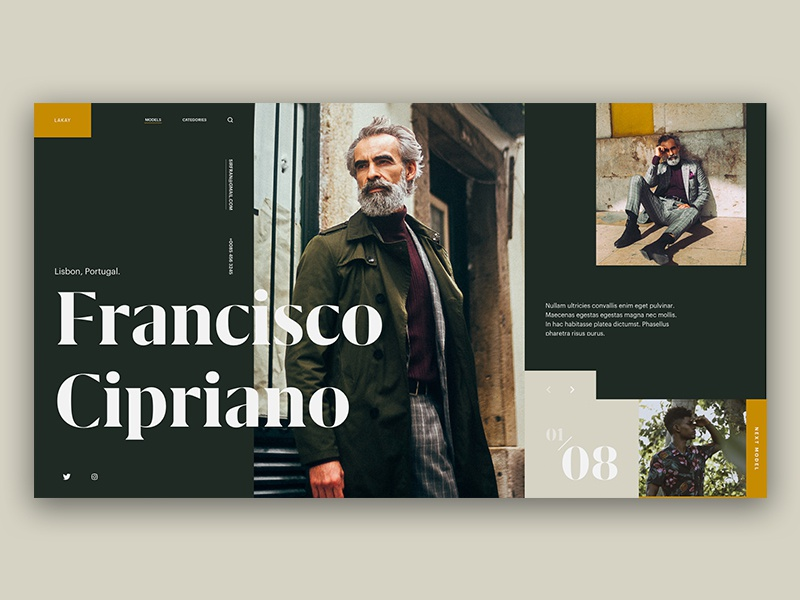 Type Exploration — 006 green ux ui photo typography interface cta grid model fashion type