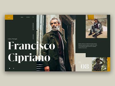 Type Exploration — 006 green ux ui photo typography interface cta grid model fashion type