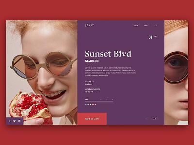 Type Exploration — 007 ux checkout typography type glasses cart interface grid purple fashion cta