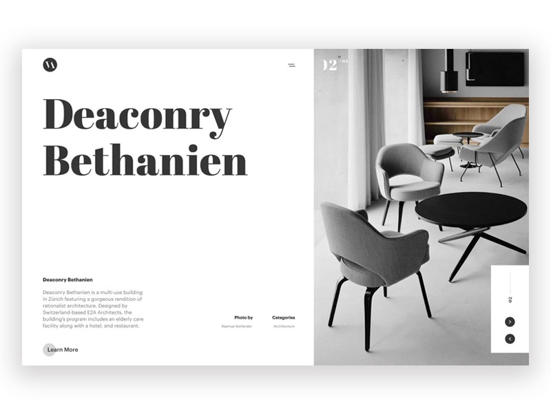 Type Exploration 008 madewithstudio typography type furniture minimal magazine layout editorial clean
