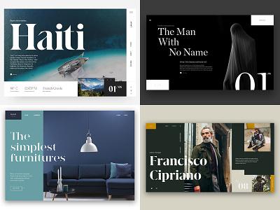 2018 app travel webdesign web uiux furniture dark grid product landing type layout typography website interface minimal design clean ux ui