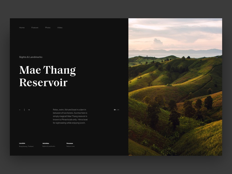 Type Exploration 009 webdesign dark travel grid web uiux landing type layout website typography interface minimal design clean ux ui