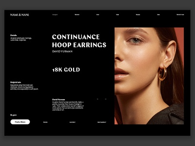 Type Exploration 010 ecommerce store webdesign dark product grid web uiux landing type layout typography website interface minimal design clean ux ui