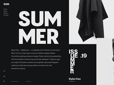 Type Exploration 011 grid landing type layout typography interface minimal design clean ui