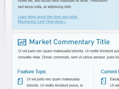 Feature Topic blue website content header icon