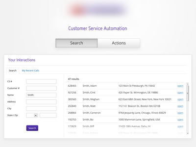 Search ui interface app ux web application layout login