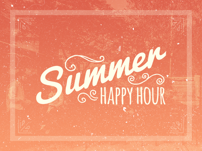 Summer Happy Hour summer happy hour ornaments text