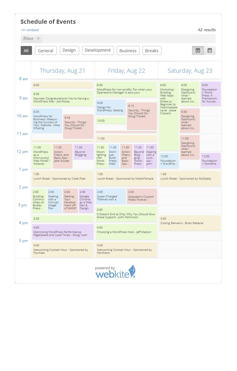 01 schedule calendar