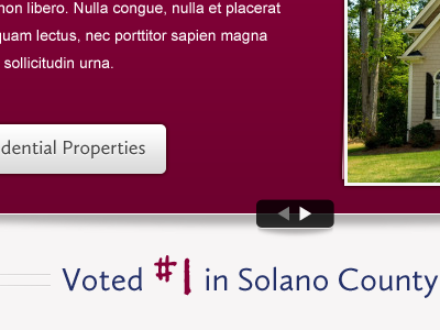 Voted #1 residential maroon slideshow shadow button real estate
