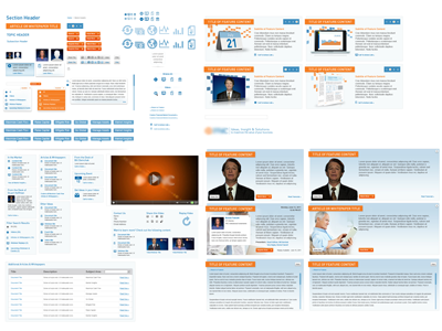 Style Guide financial blue orange icons