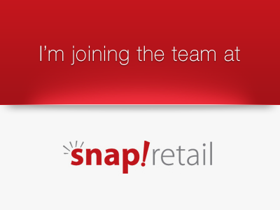 I'm joining the team at Snapretail snapretail announcement job