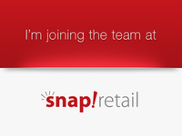 I'm joining the team at Snapretail