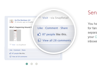 Content Graphic slider blue white magnify facebook museo redesign