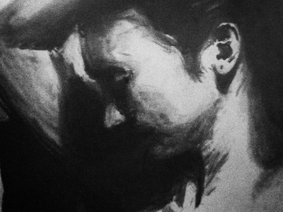 Drawing portrait drawing charcoal shadows contrast face