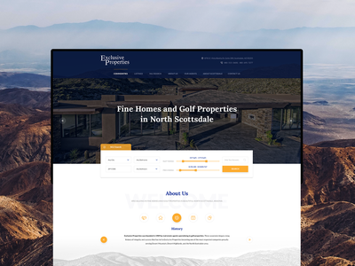 Exclusive Properties Website web design america scottsdale website design property home search filter clean retail arizona homepage design home page homepage web ux uidesign uiux website