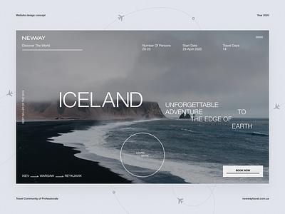 New way – website clean helvetica minimal typogaphy concept design uxdesign uidesign ux ui website web atmospheric deep fly community blog travel iceland figma concept