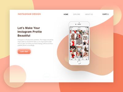 Landing Page for Instagram Design