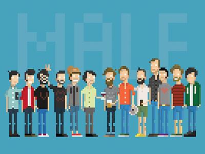 Mojotic Male 8-bit 8bit characters character pixel usbe group band male mojotic pixelart pixel art