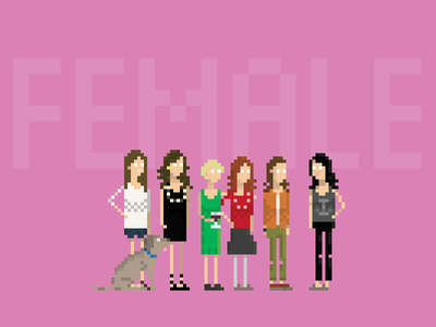 Mojotic Female usbe pixelart mojotic female group characters character band 8-bit 8bit pixel art pixel