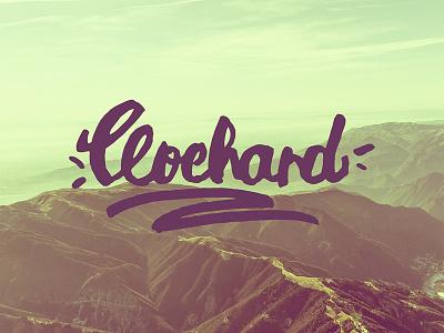 Clochard hipster brand clochard design handmade calligraphy logo design logo handwritten