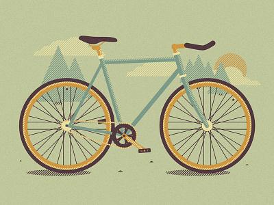 Riding for the Feeling halftones stripes illustration illustrator vector poster screenprint artwork ride riding bike fixed