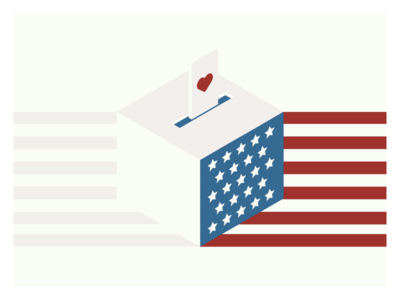 Vote with love vector illustration illustrator clinton trump usa election electionday election day