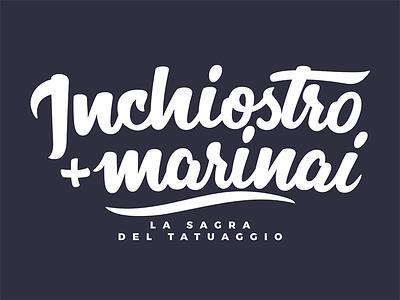 Inchiostro+Marinai calligraphy tattoo procreate handwritten logo design design logo