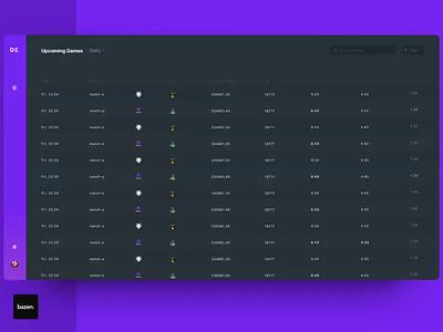 DE Sport Animation ui esport game gaming live opening interaction gif animated dark purple panels dashboard dash