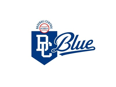 BC Blue logo pms294 vintage logo design baseball