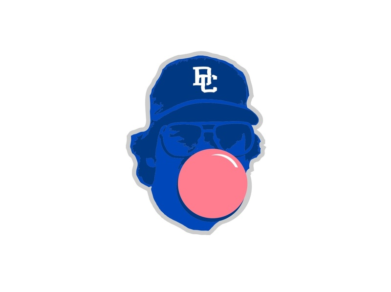 BC Blue Bubble Gum retro vector illustration design vintage enotsdesign sports logo baseball