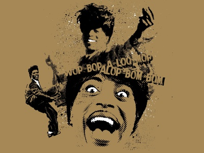 Wop-Bop rock-n-roll music little richard digital illustration