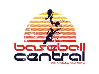 Baseball Central Sun Fielder cali retro enotsdesign sun logo design baseball