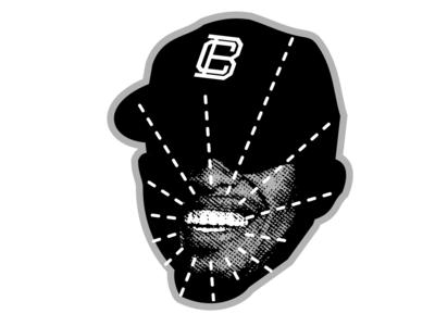 Baseball Smile Head sports logo baseball