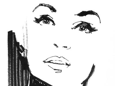 Illustration marker pen pen fashion illustration fashion illustration
