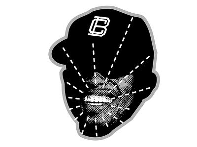 Baseball Smile Head baseball enotsdesign sticker mule