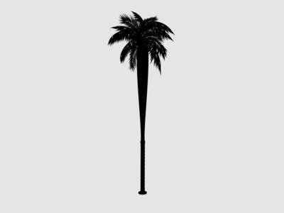 BC/LA PalmBat enotsdesign sports logo baseball