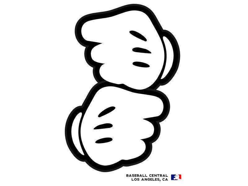 BC/LA Cartoon Hands cartoon design enotsdesign logo sports baseball