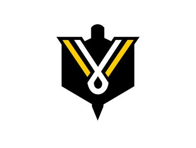 VikINK crest badge crest fantasy football vikink viking enotsdesign vector illustration design logo