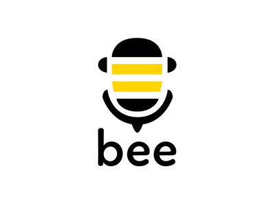 BEE - TV music channel + jingle (fictional) bee music channel tv channel tv music flat icon vector design logo illustration