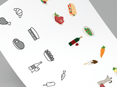 Food Pictograms - Catering Services (fictional) catering design illustration food icon food icons food and beverage food art food flat icon