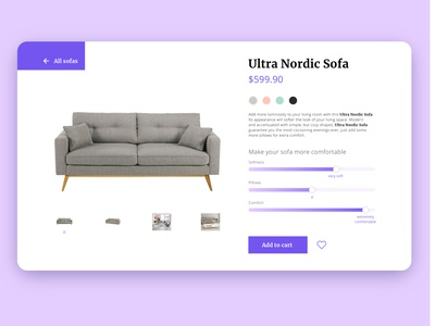 DailyUI 007 - Settings design web shop web designer web design shopping ui ux interface daily ui dailyui user interface 007 settings page settings ui settings product site product page shopping website daily ui 007 furniture store furniture