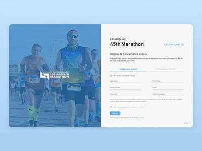 Marathon Sign Up Form uidesign signup web ui form field sign up page sign up form sign up