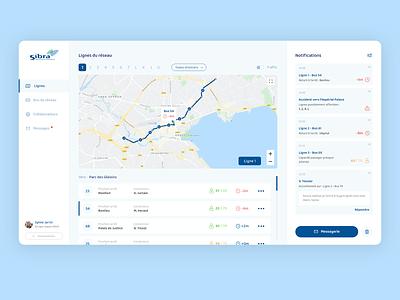 Bus Network Manager - Dashboard design left menu desktop app ux ui manager dashboard network bus