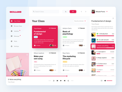 Skilland - Online Course Dashboard purple education design clean course dashboad ux ui