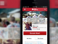 Mobile Individual Fundraising Pages