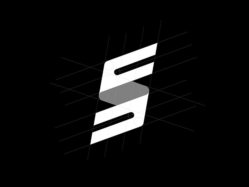 FS Monogram logotype logo mark symbol identity icon design fs s f monogram