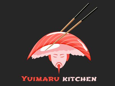 Yuimaru Kitchen Restaurant Logo Design