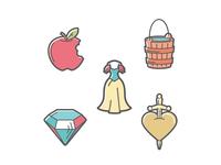 Snow White Icon Set