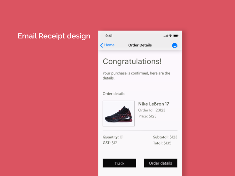 Daily UI - 017 Email Receipt