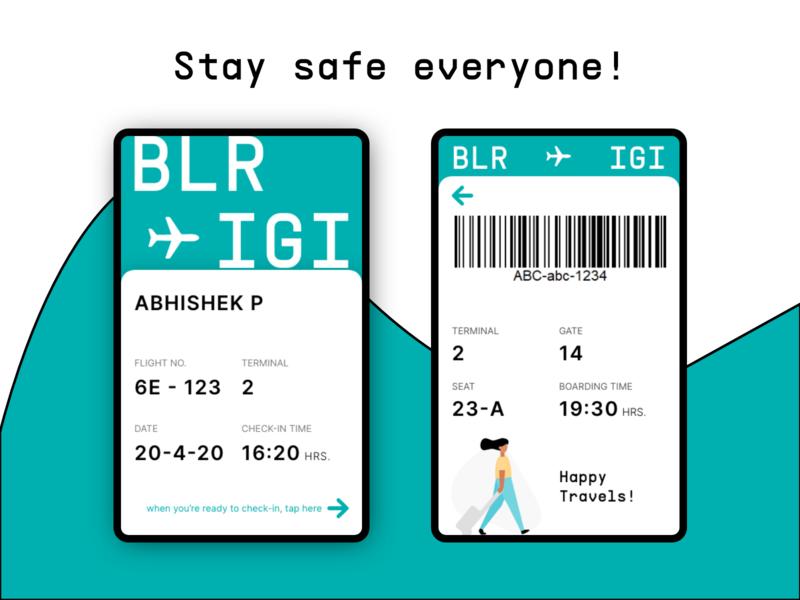 Daily UI 024 - Boarding Pass